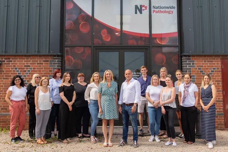 nationwide pathology team outside